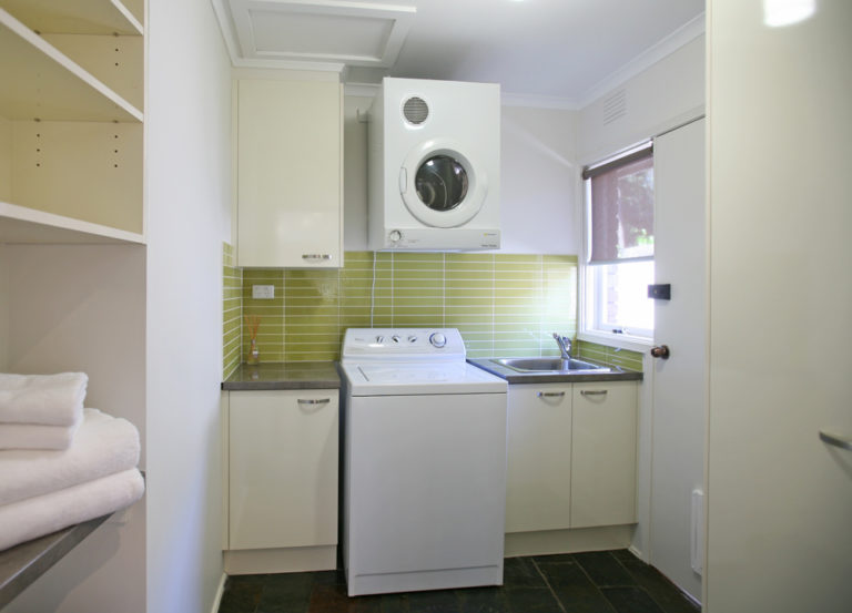 Laundry renovation<br>green with envy