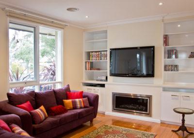 MAIN-polar-white-laminex-silk-caesarstone-wall-unit-bookcase-gas-fireplace-tv-kitchen-update-2