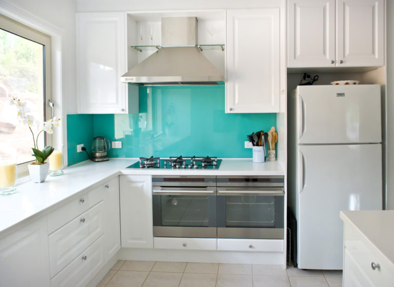 Kitchen renovation<br>aqua splash