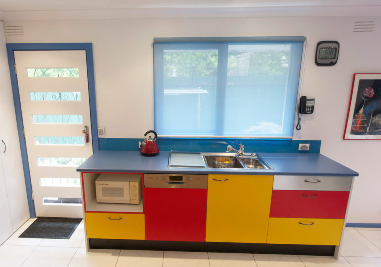 Kitchen renovation<br>bold & bright