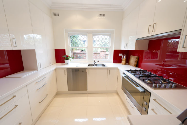 Kitchen renovation<br>red riot