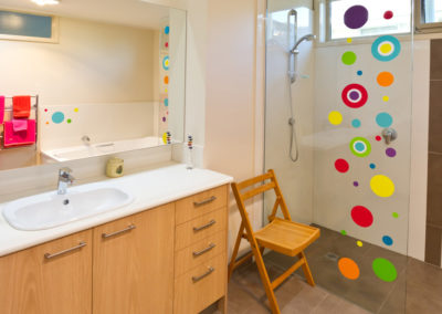 bathroom-colourful-walk-in-shower-timber-laminate-vanity-kitchen-update