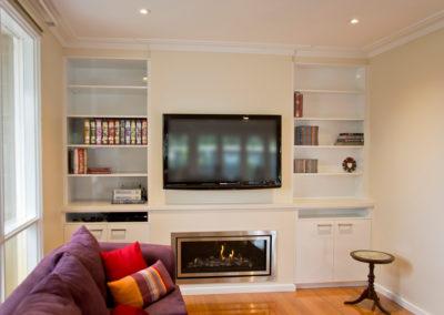 polar-white-laminex-silk-caesarstone-wall-unit-bookcase-gas-fireplace-tv-kitchen-update-3
