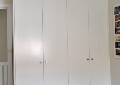 white-painted-wardrobes-double-doors-kitchen-update
