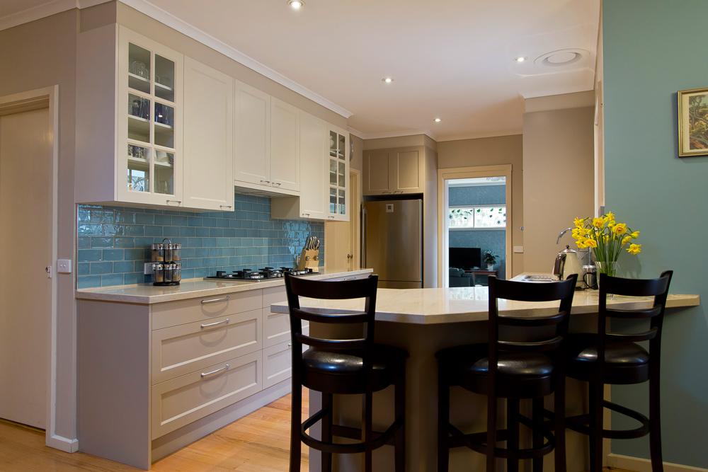 Kitchen Renovationbeige Amp Blue Kitchen Update